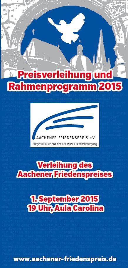 Preisverleihung Aachen