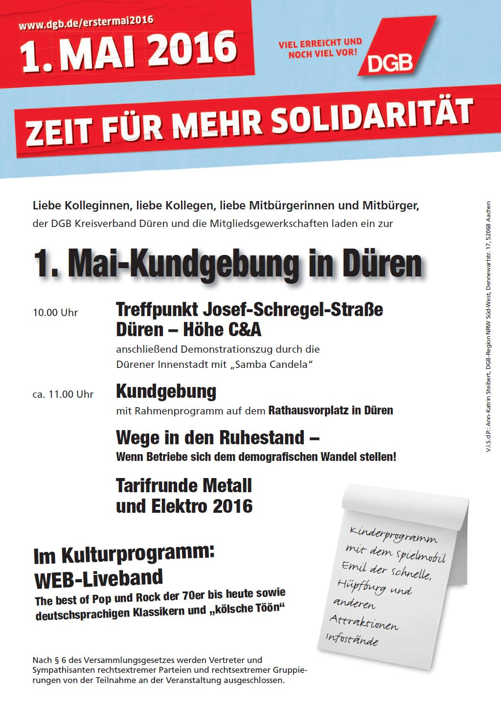 DGB Plakat